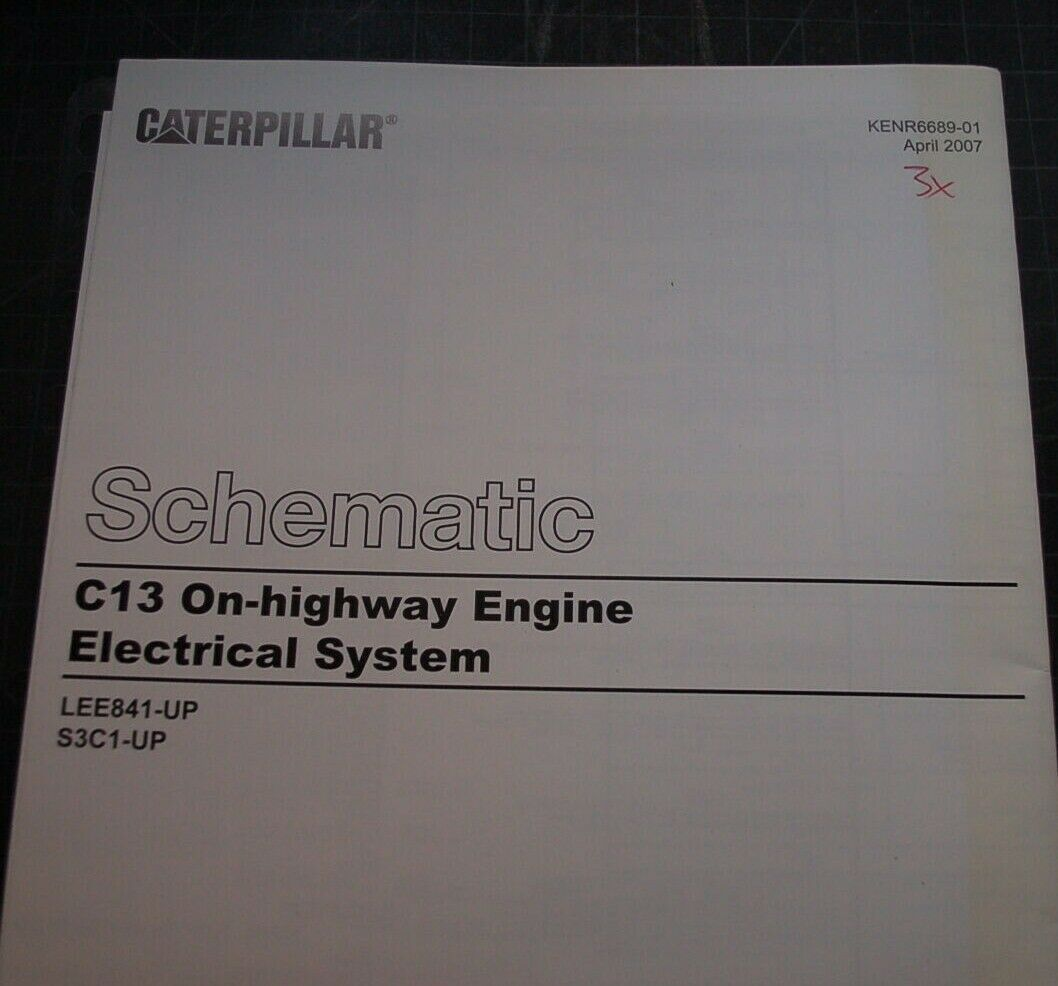 1 of 6Only 2 available CATERPILLAR C13 Truck Engine Electrical Wiring  Schematic Service ...