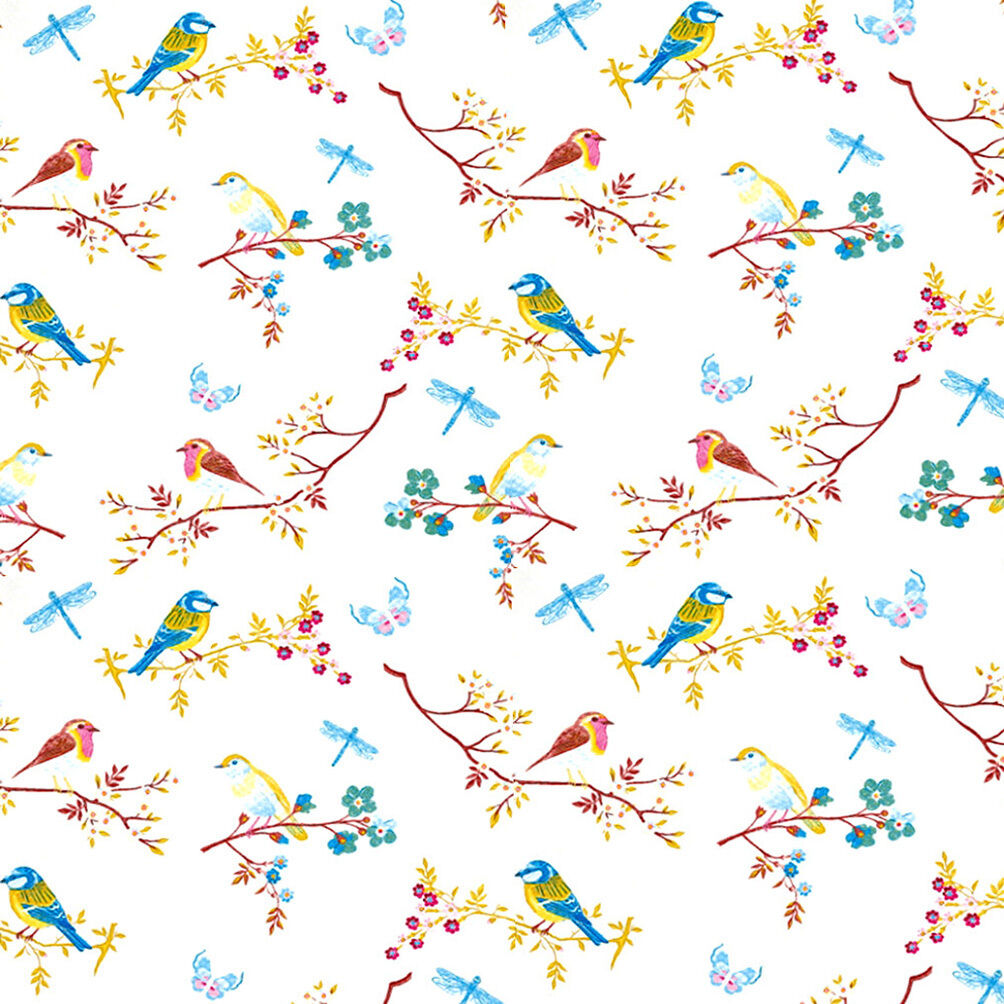 Dolls house wallpaper 1 12th 1 24th scale birds quality for House wallpaper paper