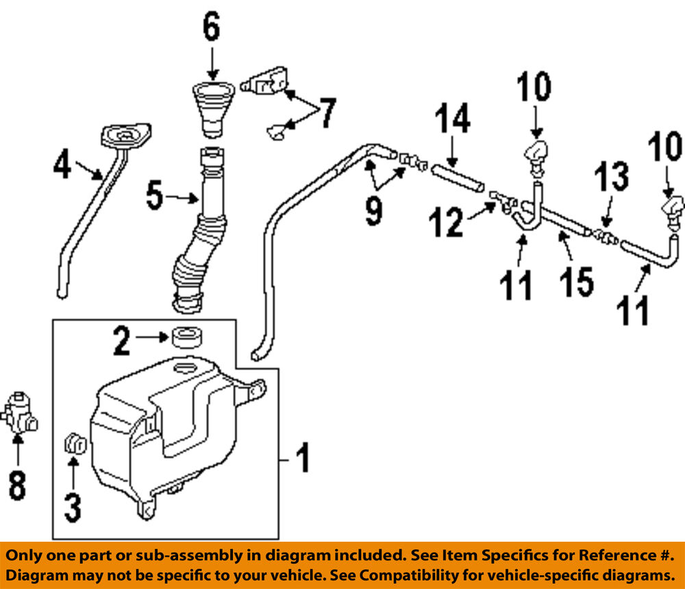 Acura Honda Oem Tsx Wiper Washer Windshield Nozzle Right 2005 Transmission Diagram 1 Of 1free Shipping