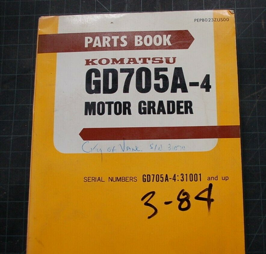 KOMATSU GD705A-4 MOTOR GRADER Parts Manual book catalog shop BLADE SPARE  list oe 1 of 1Only 1 available ...