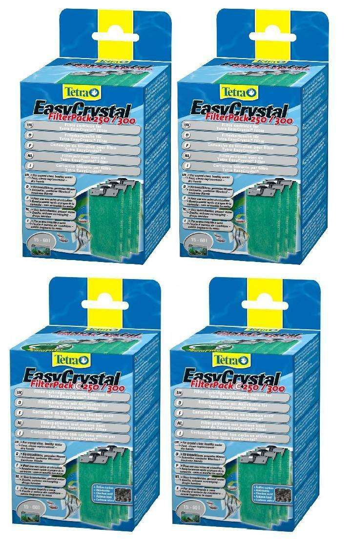 NEW 2 x Tetra Tetratec Easy Crystal Filter Media With / Without Carbon C250 300