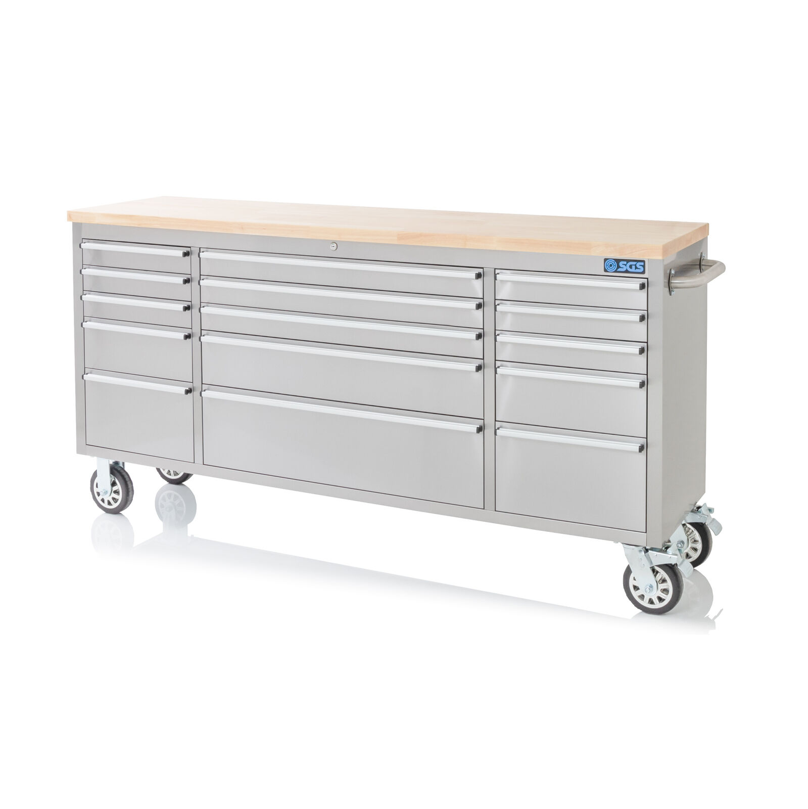 72 Stainless Steel 15 Drawer Work Bench Tool Box Chest Cabinet Picclick Uk