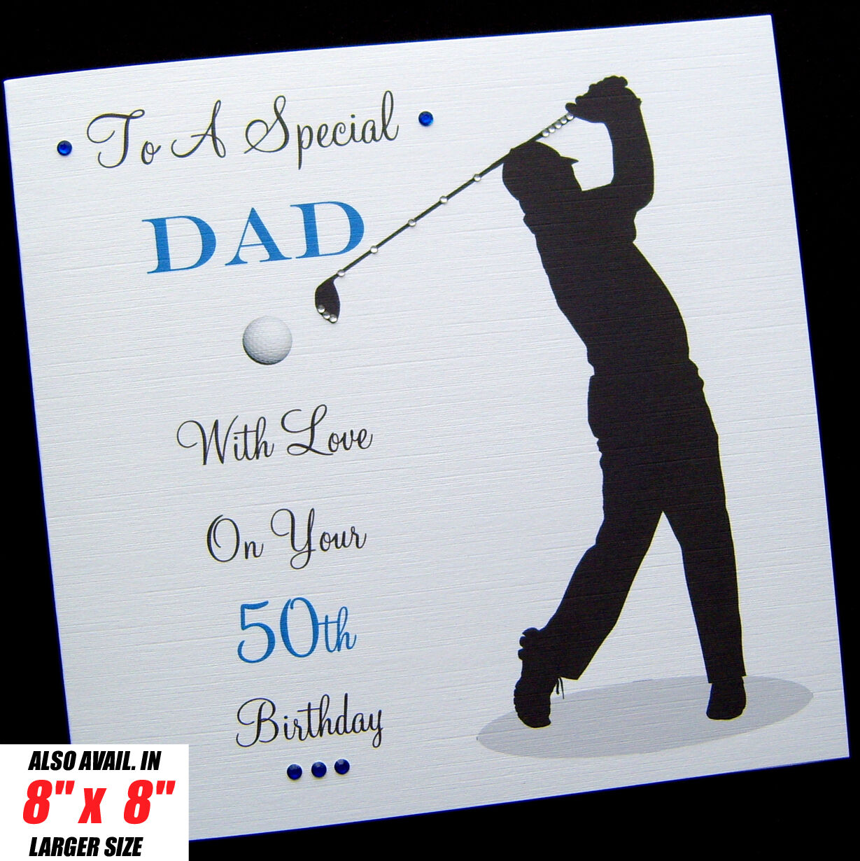 Personalised GOLF Birthday Card Dad Brother Son Husband Uncle In Law 1 Of 1FREE Shipping