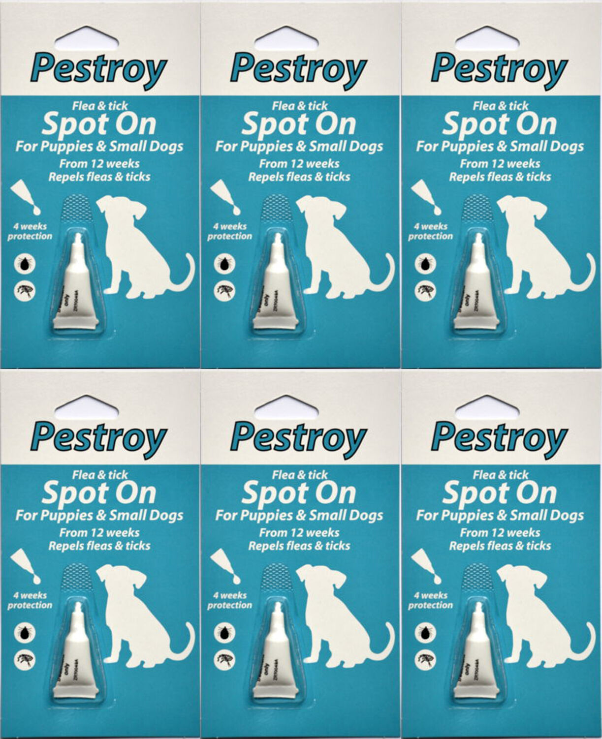12 Months Pestrroy Flea & Tic treatment Puppies & Small Dogs For The Price of 9!