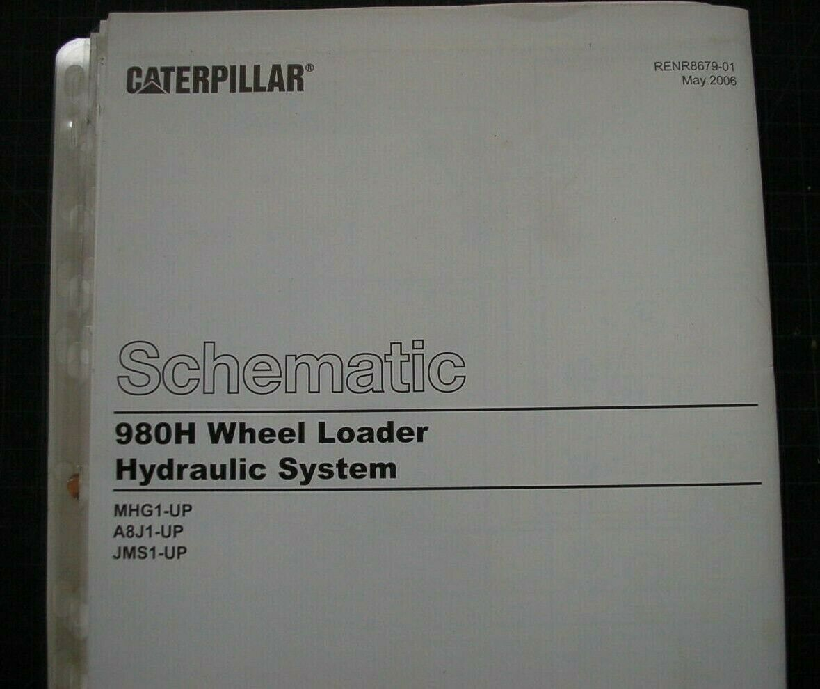 1 of 4Only 3 available CATERPILLAR 980H Wheel Loader Hydraulic Schematic  Service Manual repair diagram