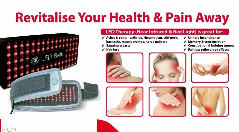 SE LED Belt Near Infrared Light Therapy Arthritis Back Pain Migrain Weight  Loss 1 Of 1 See More