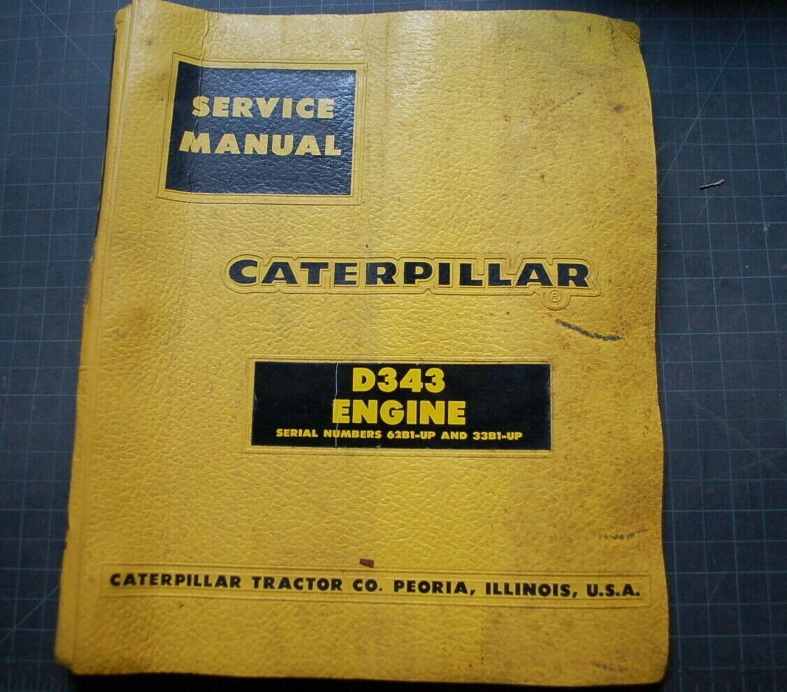 1 of 8Only 2 available CAT Caterpillar D343 Diesel Engine Service Manual  Repair Shop book overhaul 1961