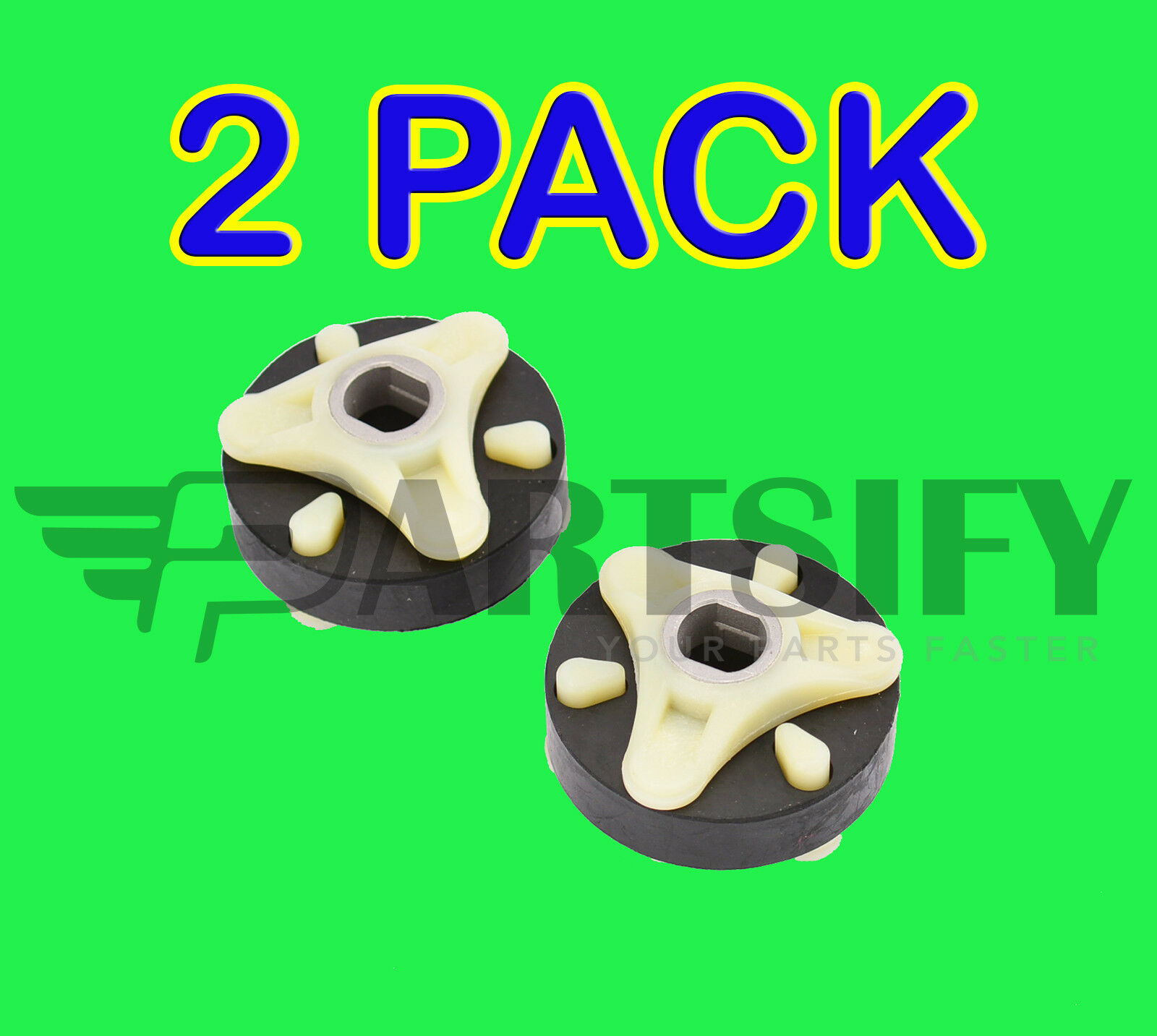 2 Pack New 285753a 285753 Washer Heavy Duty Motor Coupling Fits Whirlpool Model Lsq9500lq0 1 Of See More