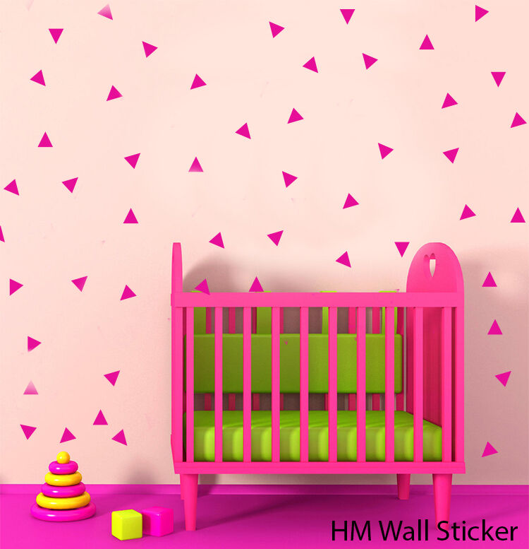 168 triangles removable wall art stickers for nursery or removable nursery wall stickers baby safari by witty doodle