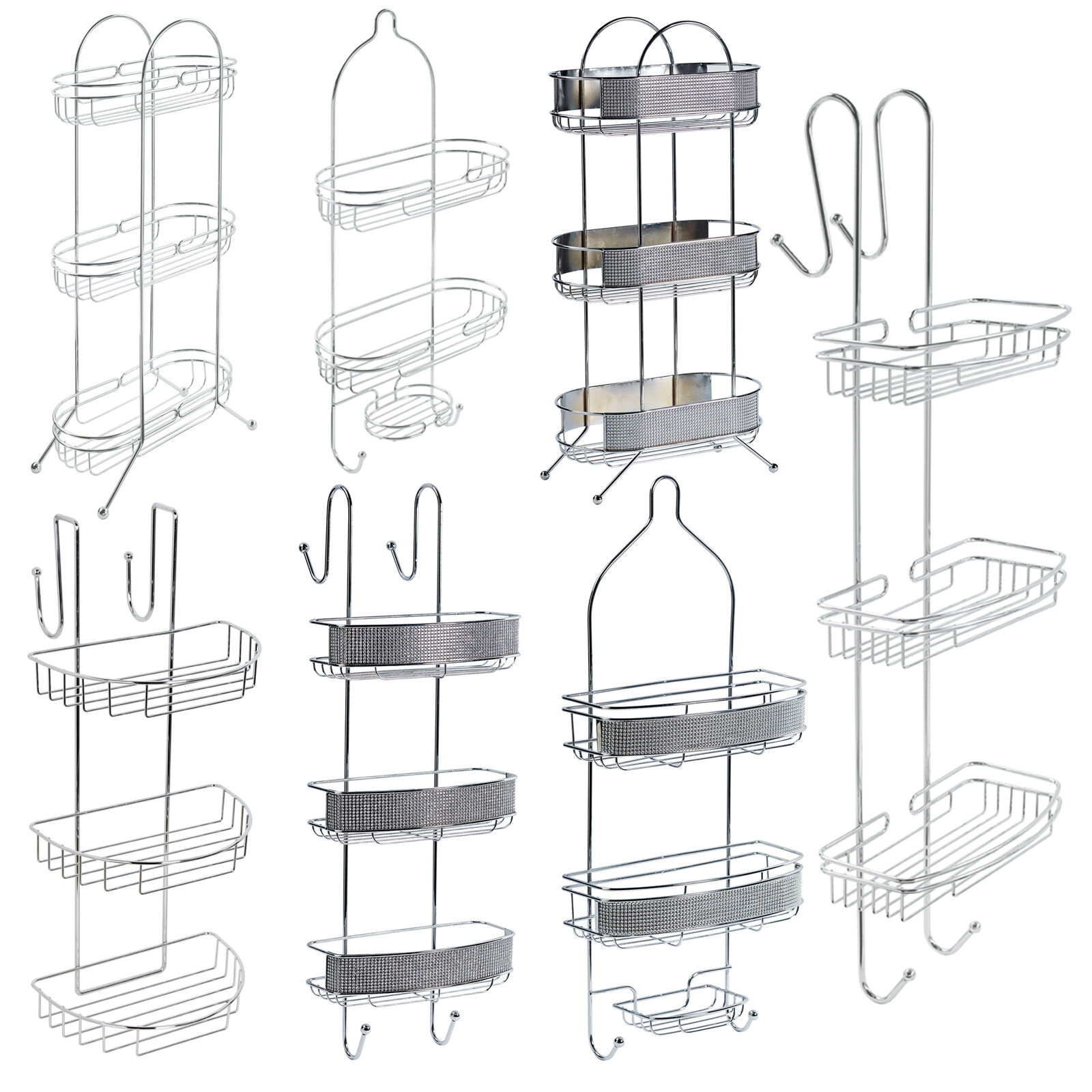 bathroom floor caddy bathroom hanging amp floor caddy chrome storage rack 10622