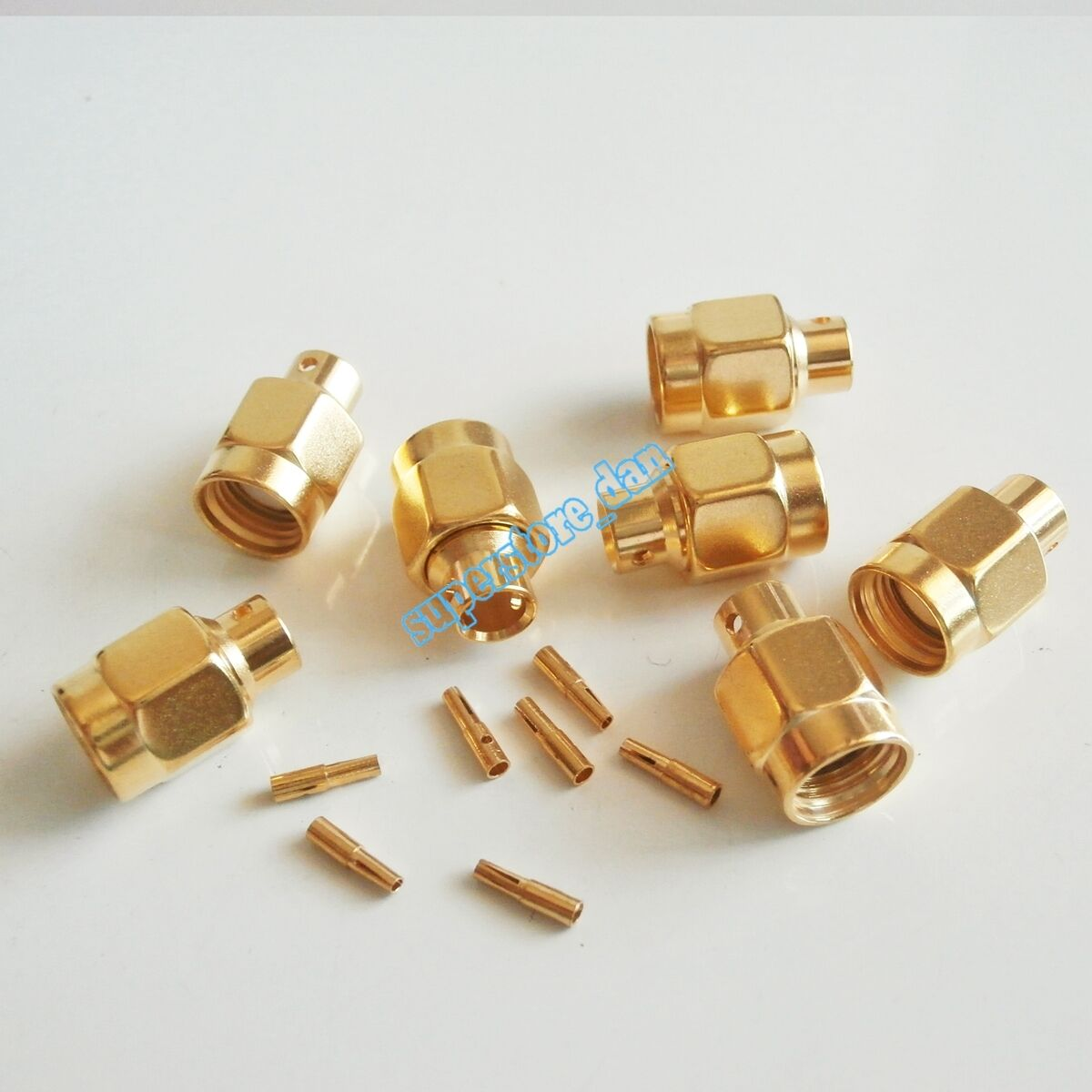 10pcs Rp Sma Solder Plug Male Straight Connector Semi Rigid Rg402 Kabel Pigtail Female To Ufl Coaxial Rpsma 0141 Cable 1 Of 4free Shipping