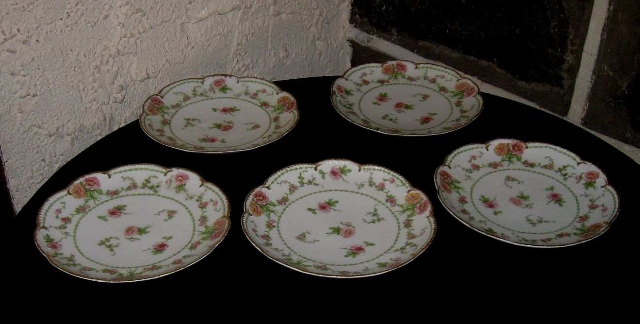vintage limoges china lot gorgeous 7 5 8 lunch dishes a fine lot of 5 picclick uk. Black Bedroom Furniture Sets. Home Design Ideas