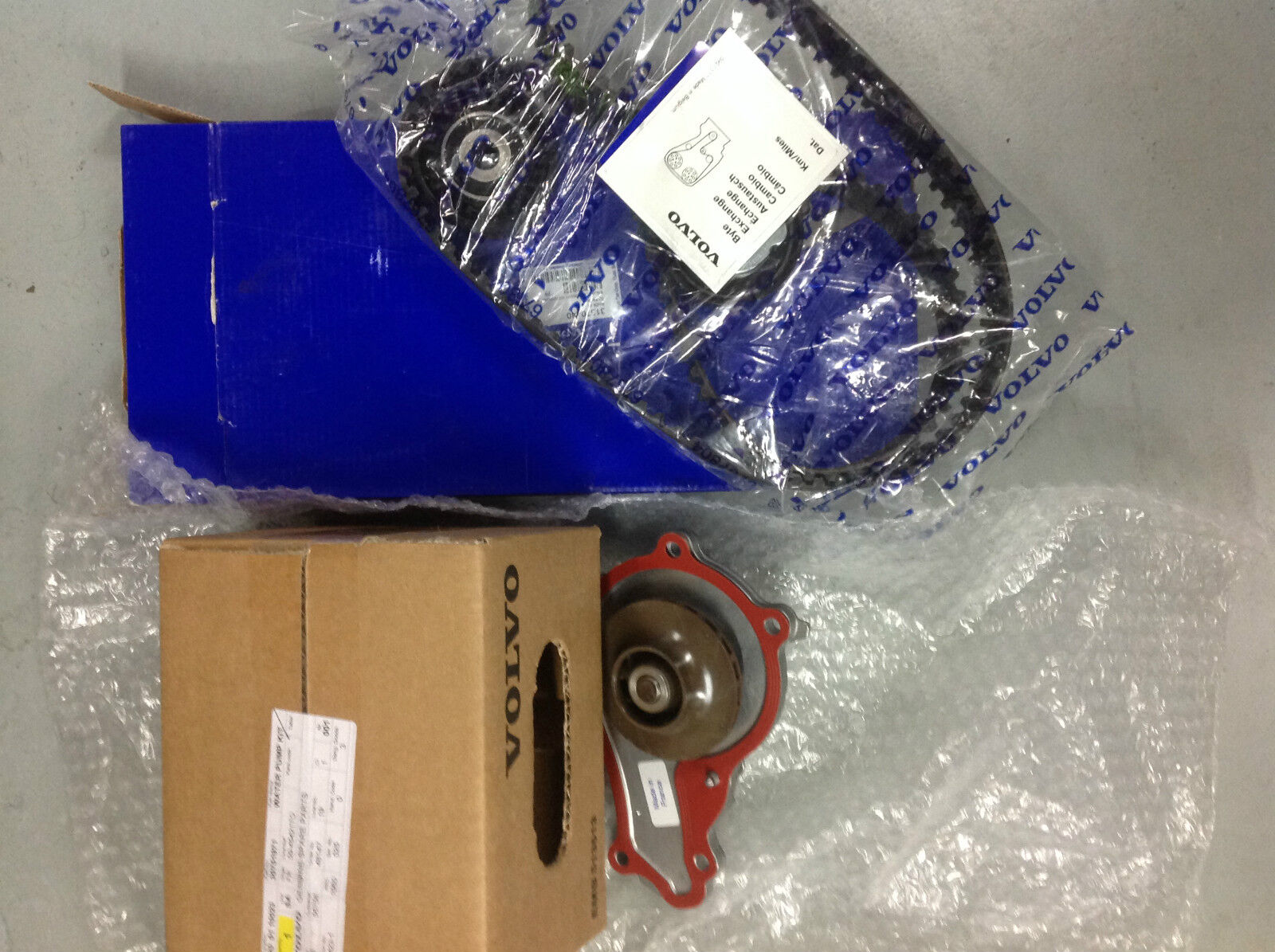 Genuine Volvo Timing Belt Kit And Water Pump D4164t 16 Diesel S40 For S80 1 Of See More