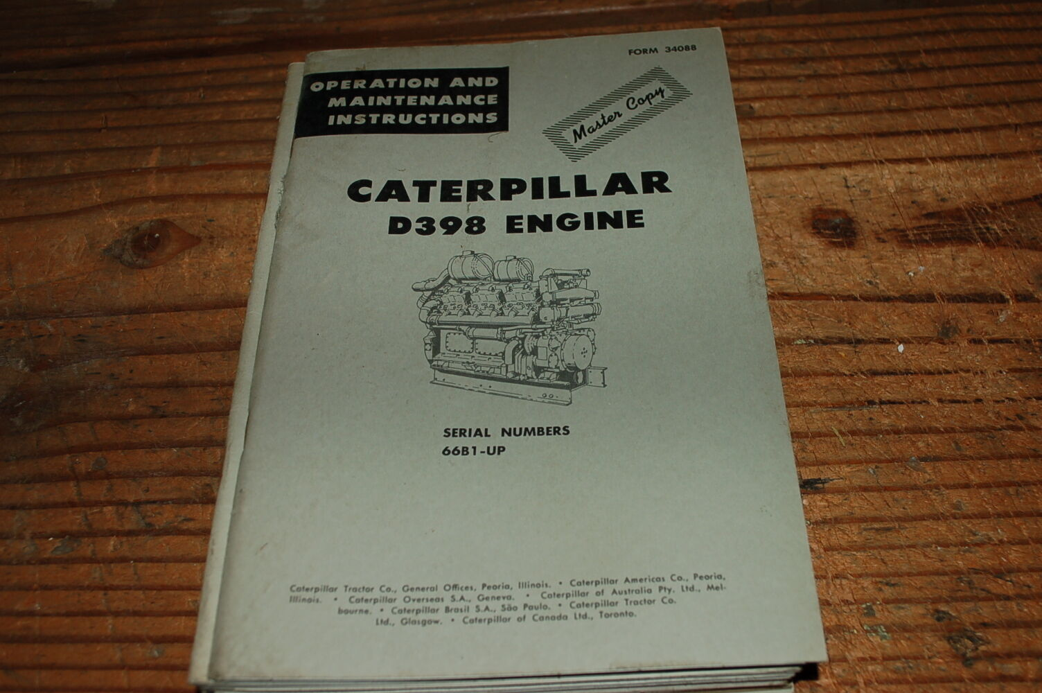 1 of 4Only 1 available CATERPILLAR D398 Diesel Engine Owner Operator  Operation Maintenance Manual book