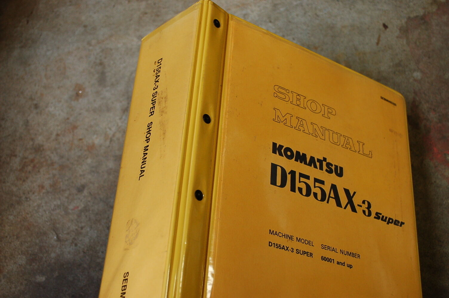 KOMATSU D155AX-3 Tractor Dozer Crawler Service Manual book repair overhaul  shop 1 of 8Only 1 available ...