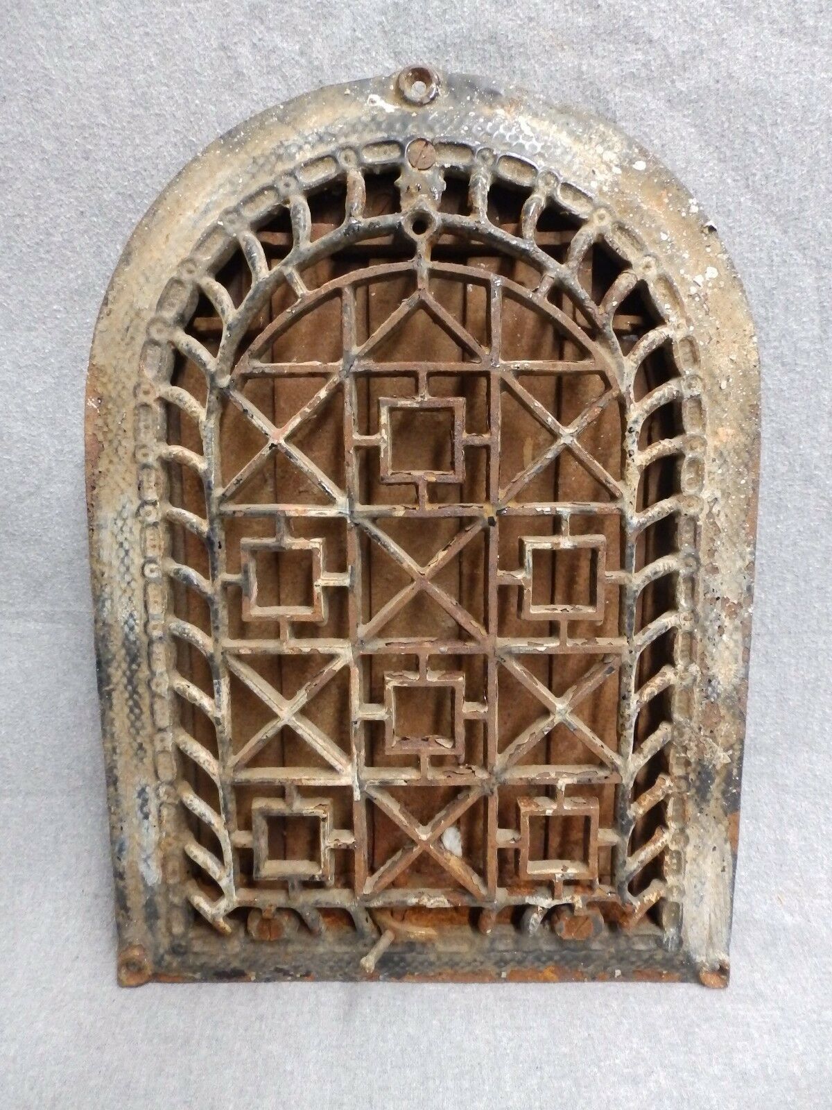 Antique Arch Top Dome Heat Grate Wall Register Vent Old Vintage Hardware 5204-15