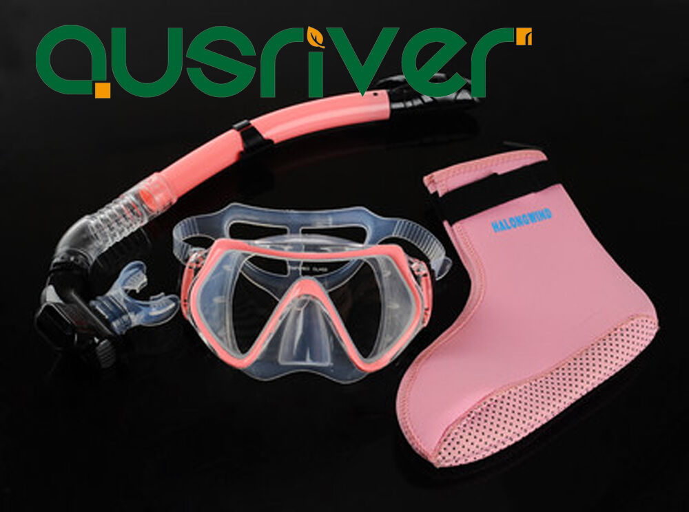 Scuba Anti Fog Goggles Mask Snorkel Diving Socks Set Dive Gear Swimming 1 of 1 See More