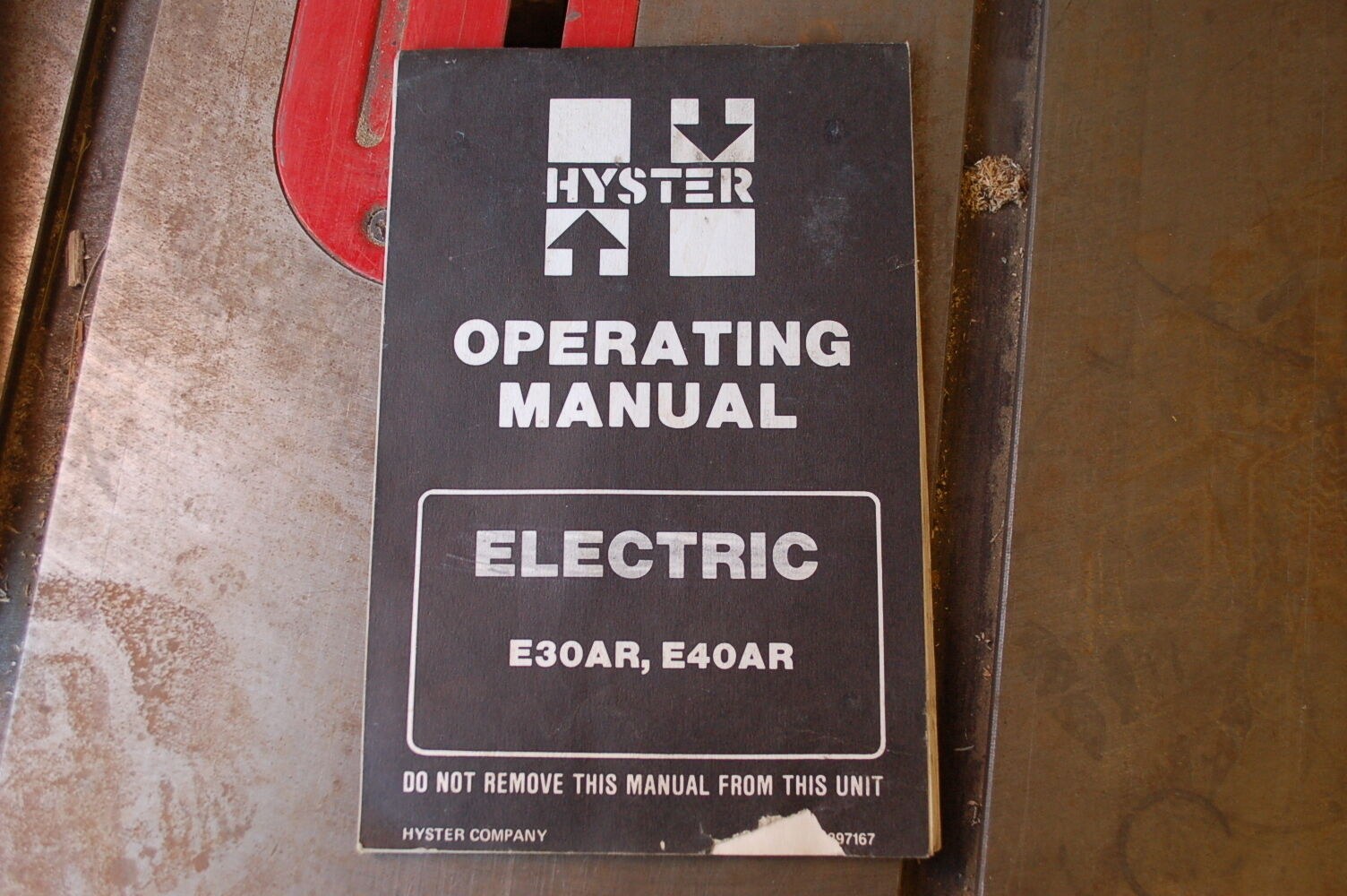 Hyster E30ar E40ar Electric Forklift Owner Operator Operation Manual Wiring Diagram E60 1 Of 8only Available Book Guide