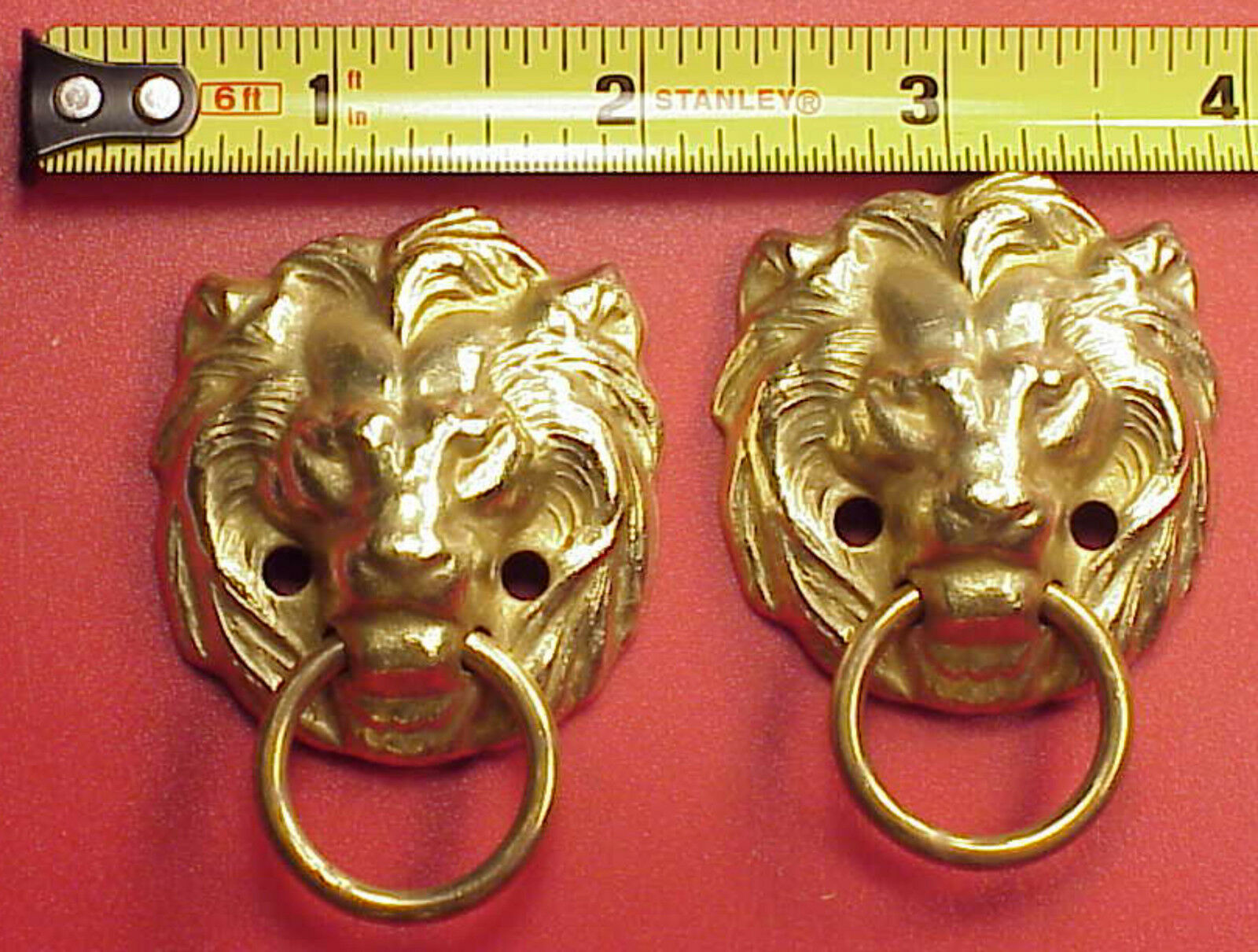Craft Clock Parts Lion Solid Brass Handles Mantle Clock 1 3/4 Inch Altered Art