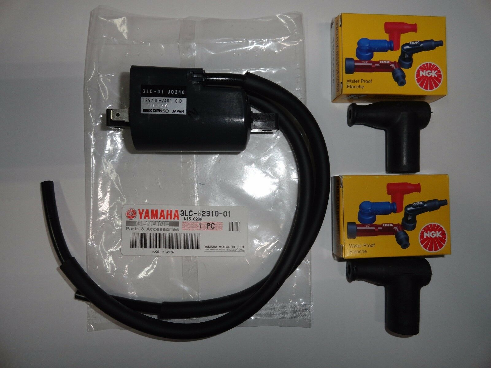 Ngk Spark Plug Cap Ignition Coil Genuine Oem Yamaha Banshee Yfz350 Wire Harness 1 Of 1only 2 Available