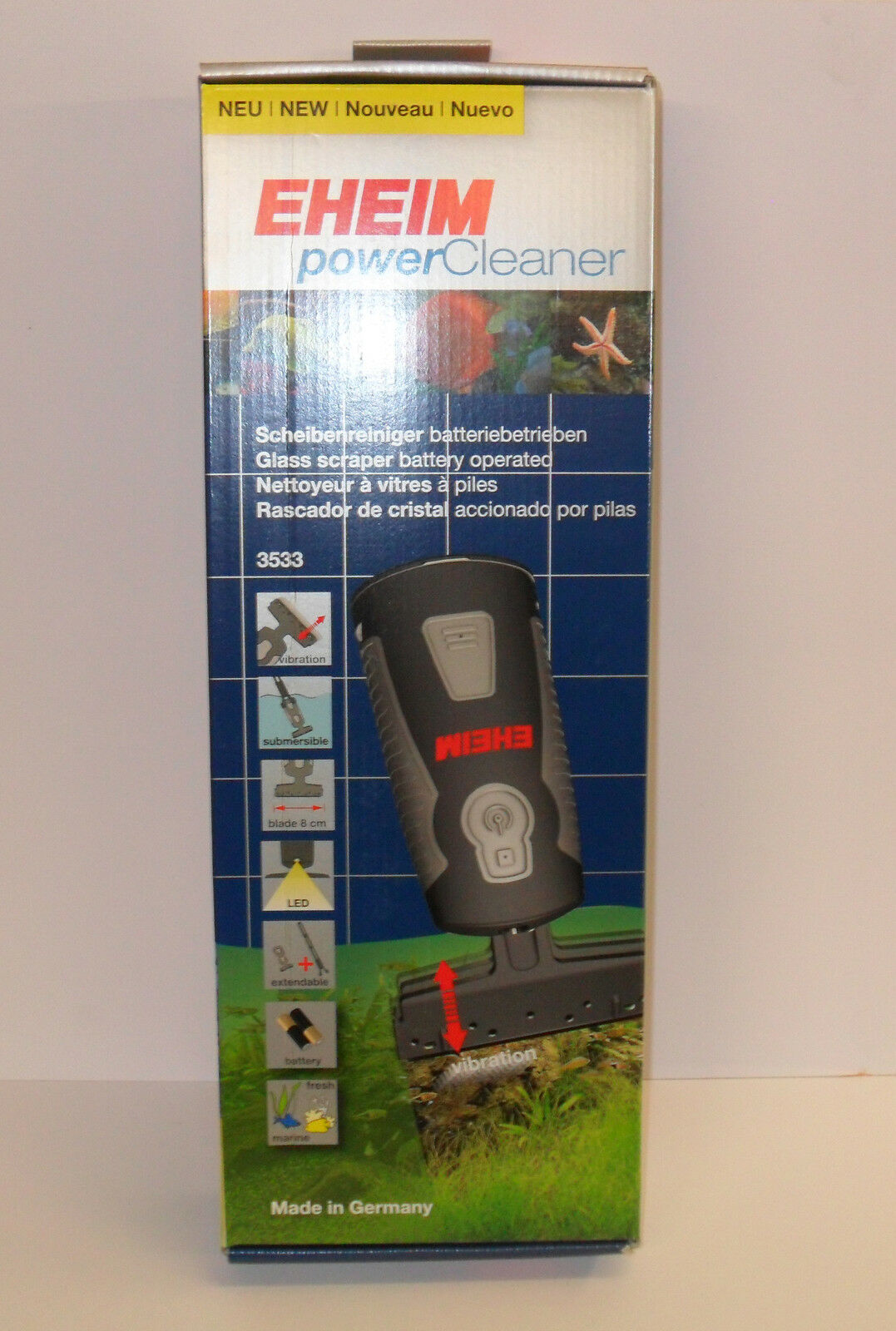 EHEIM POWER CLEANER. 3533000 Battery Powered Glass Scraper for Aquariums