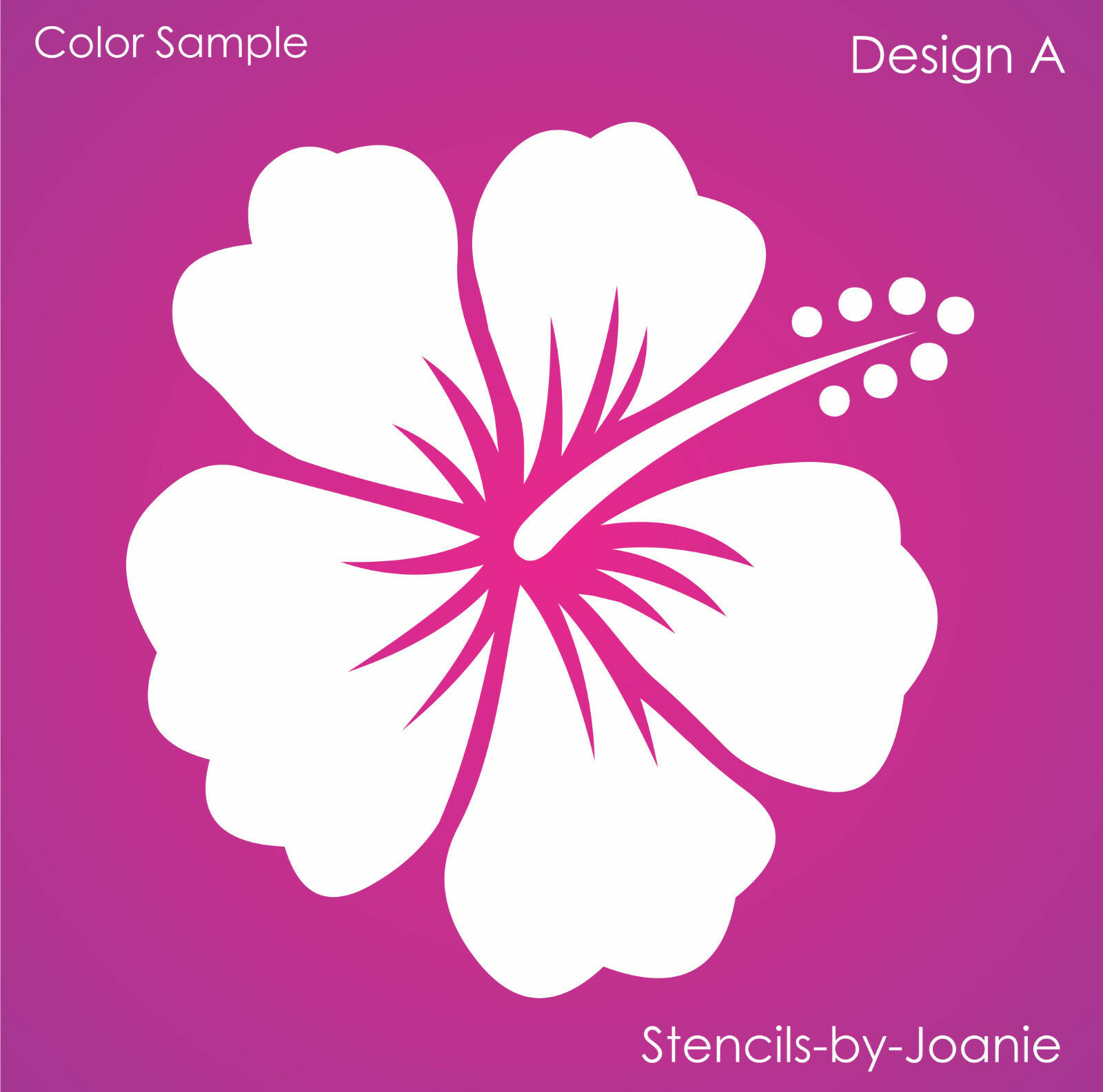 Stencil hibiscus flower a beach tropical aloha garden art craft 1 of 5free shipping izmirmasajfo