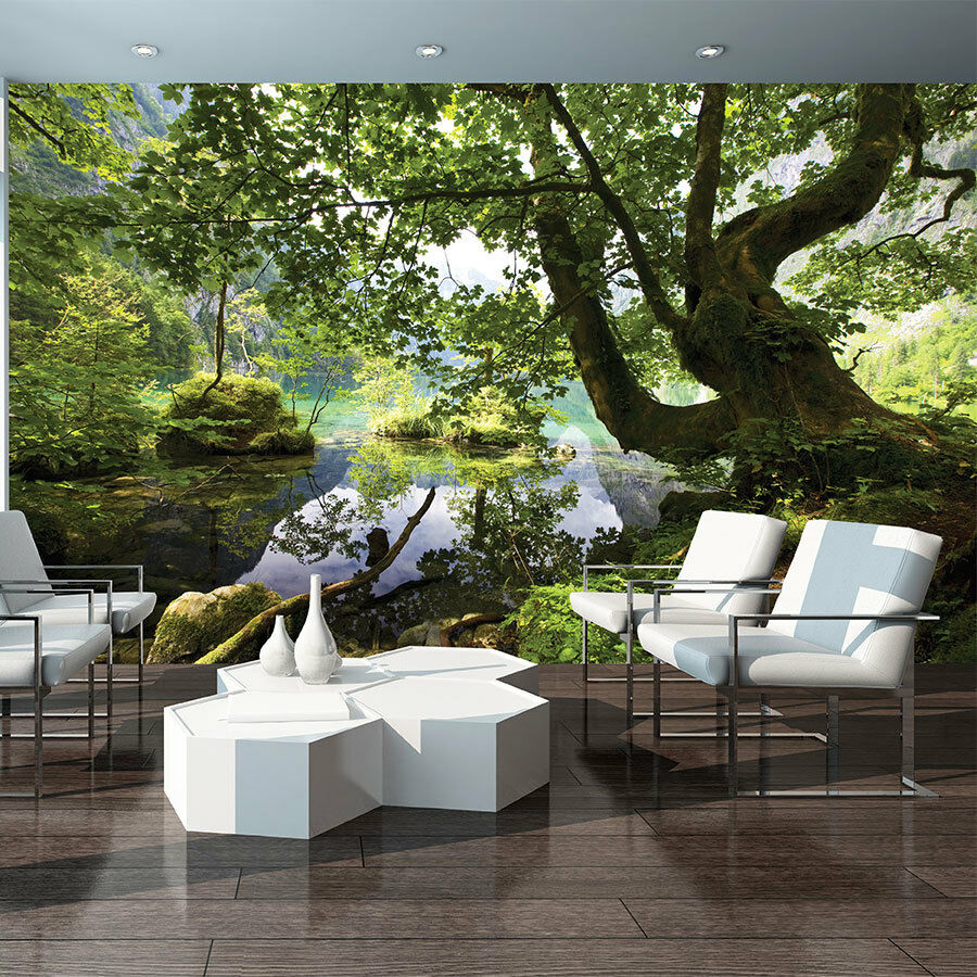 bild tapete tapeten vogel foto poster bild pflanzen natur wasser wald 3457 p4 eur 16 90. Black Bedroom Furniture Sets. Home Design Ideas