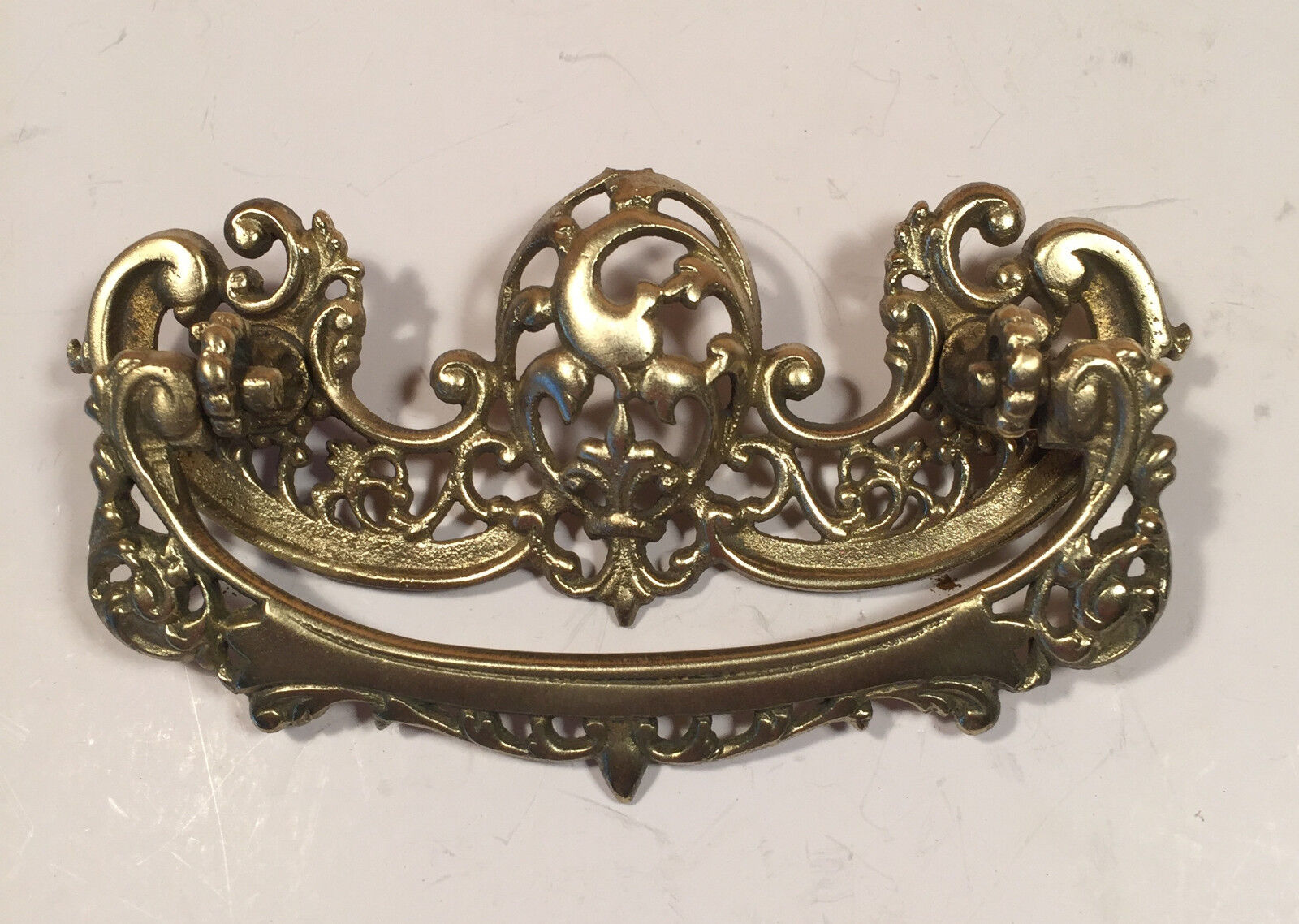 Victorian Ornate Brass pull