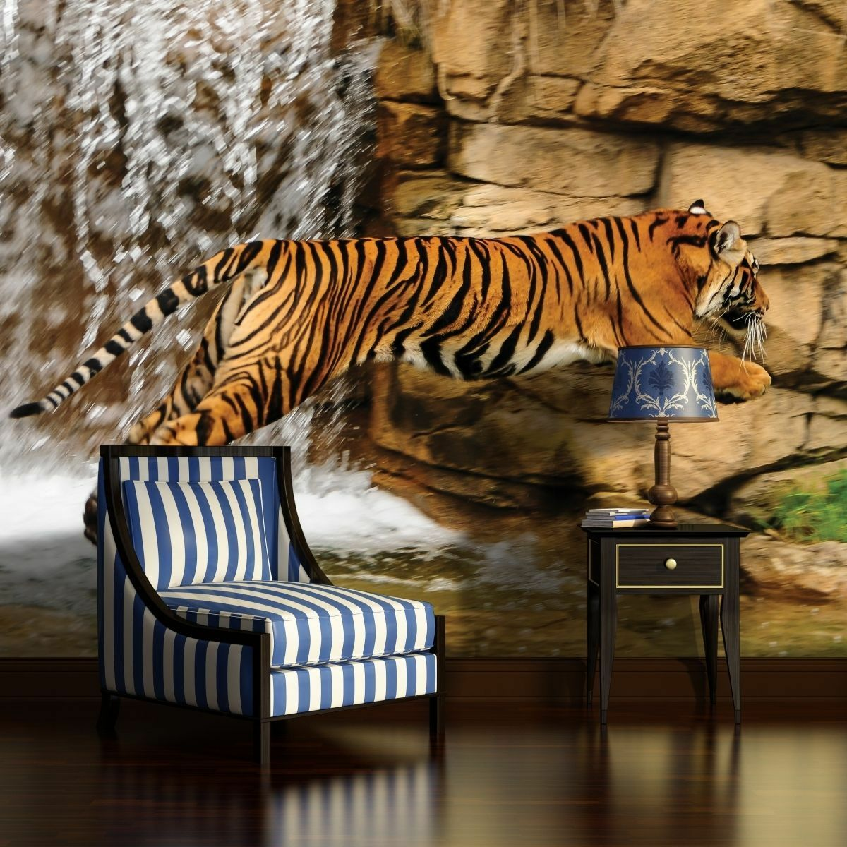 fototapeten fototapete tapete wandbild poster tier natur tiger wasser 1963 p8 eur 39 90. Black Bedroom Furniture Sets. Home Design Ideas