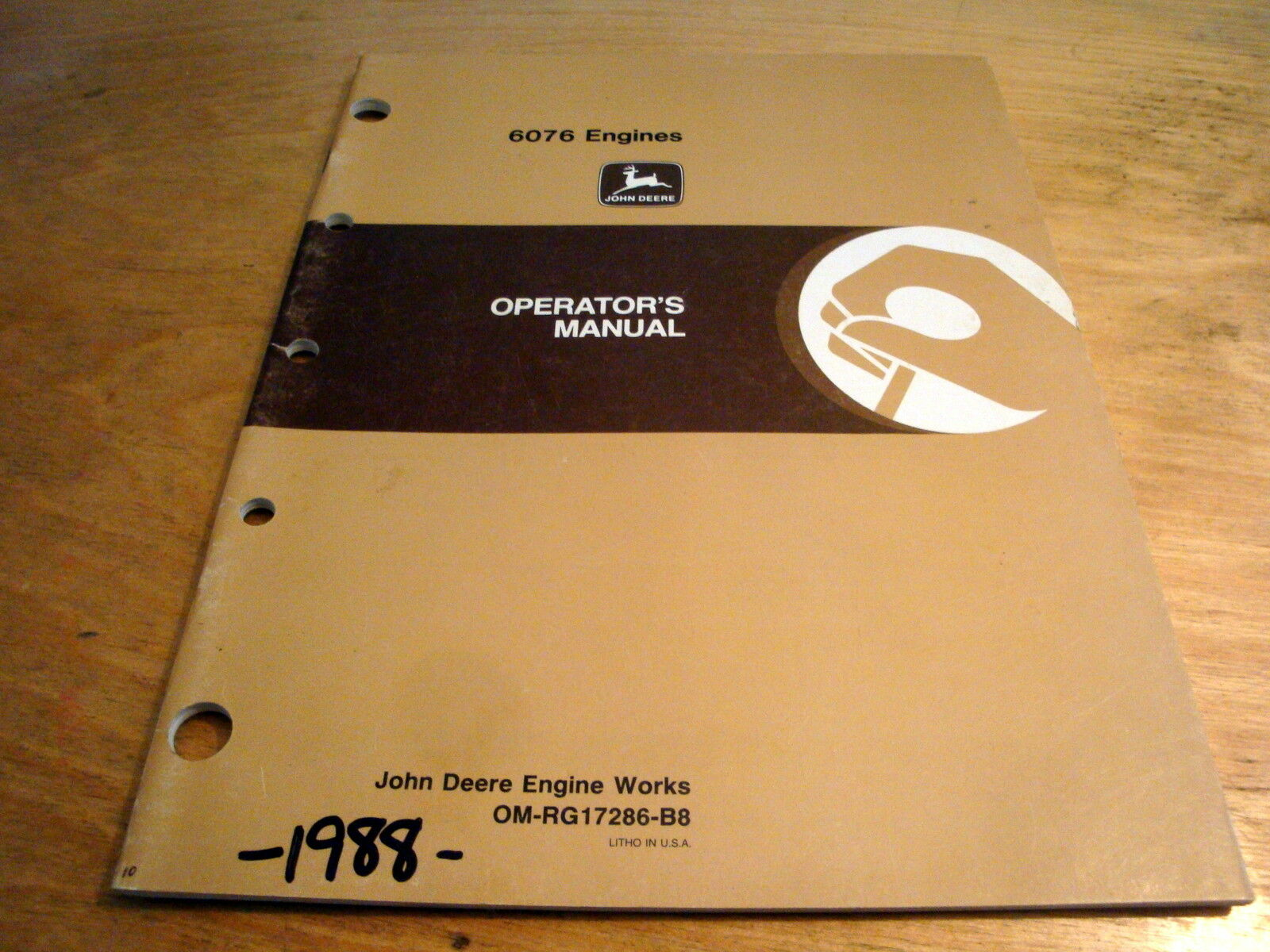 John Deere 6076 Engines 6076AF 6076HF Operator's Manual JD OEM 1 of 1Only 1  available ...