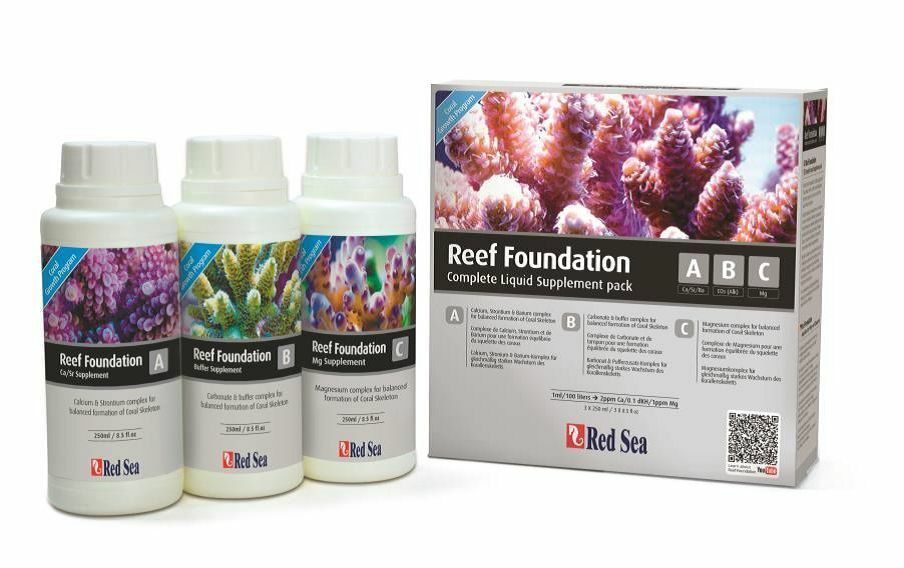 NEW Red Sea Reef Foundation ABC Complete Liquid Supplement Pack 3 x 250ml Marine