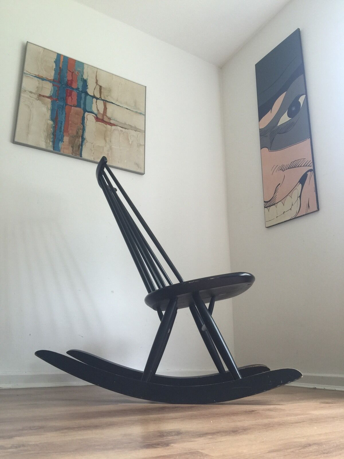 Vintage Mademoiselle Rocking Chair Tapiovaara for Asko 1956