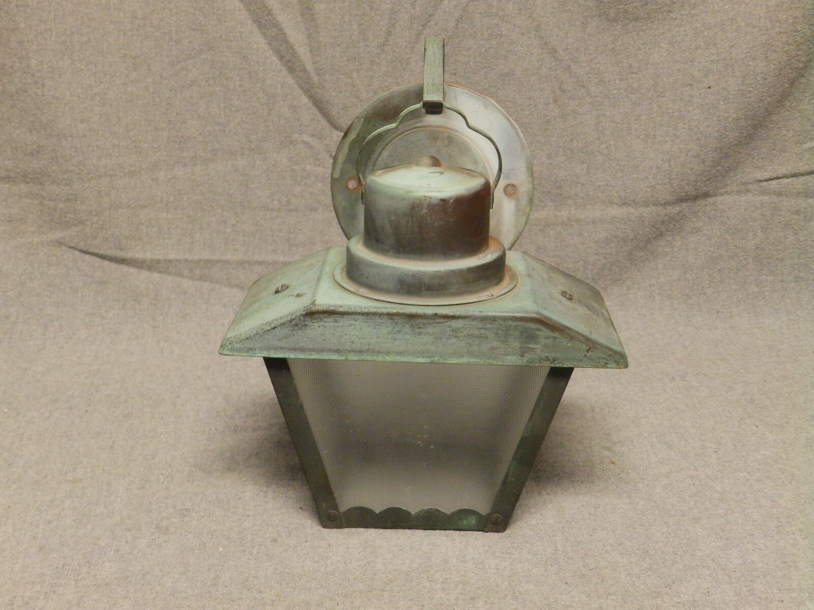 Vintage Copper Arts Crafts Porch Sconce Wall Light Fixture Old Outdoor 669-16
