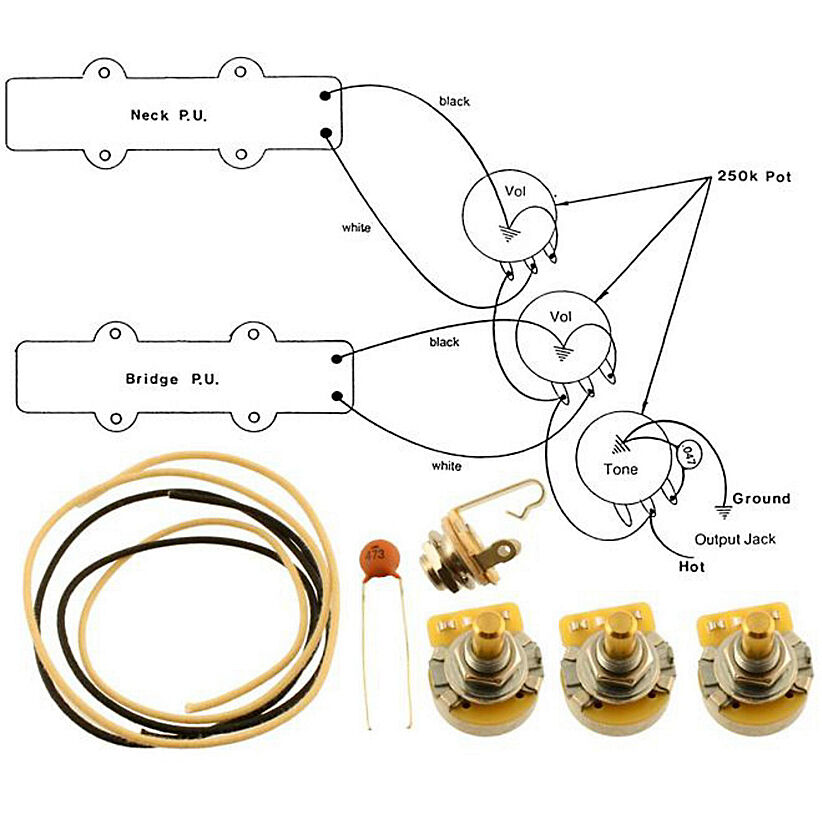 new wiring kit for fender jazz bass complete w diagram cts rh picclick com fender squier jazz bass manual fender squier jazz bass manual