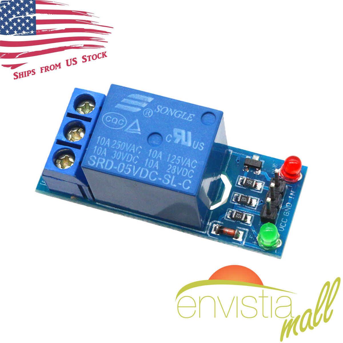 1 Channel Power Relay Module 250v 10a 5v Control W Optocoupler For Arduino 110v Controller Circuit Of 5only 0 Available See More