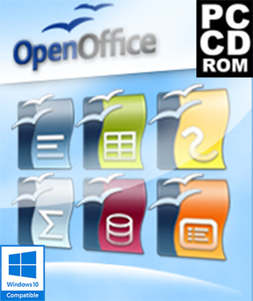 Open office 2016 microsoft windows dvd cd 1st class post - Open office 64 bit windows 7 download ...