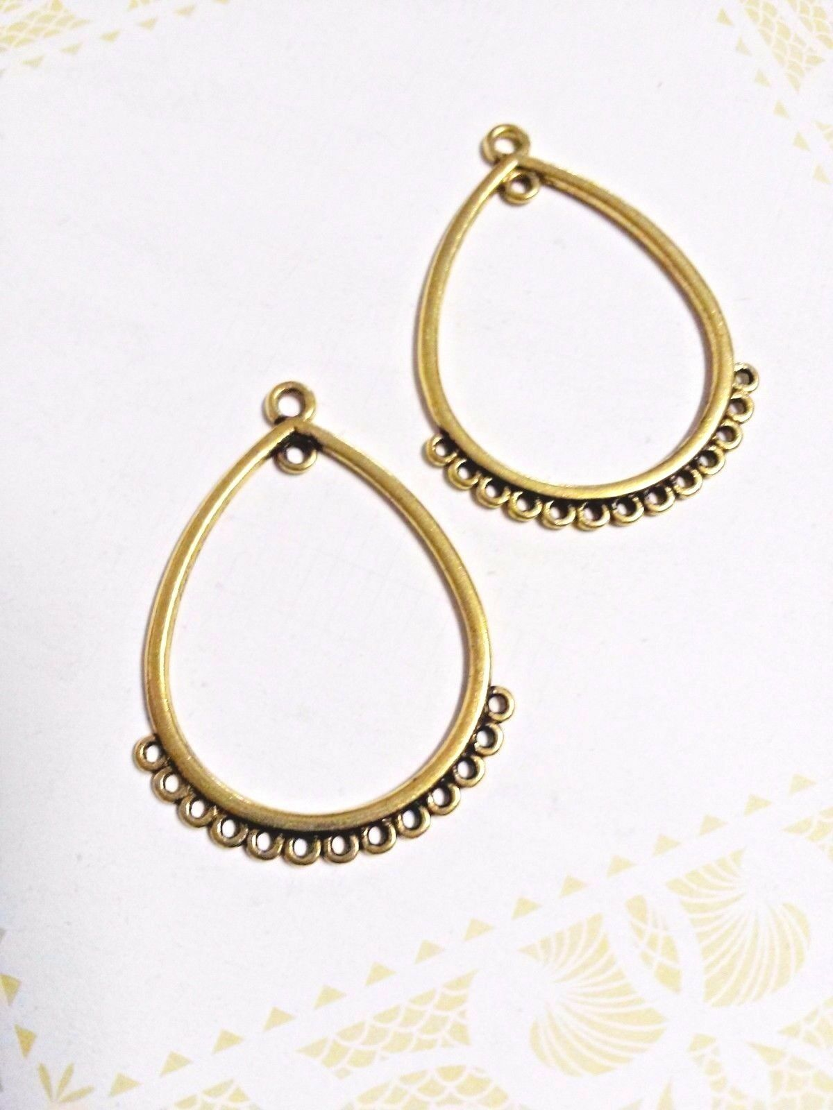 Chandelier earring connectors gold earring findings gold pendants 1 of 1only 1 available aloadofball Images