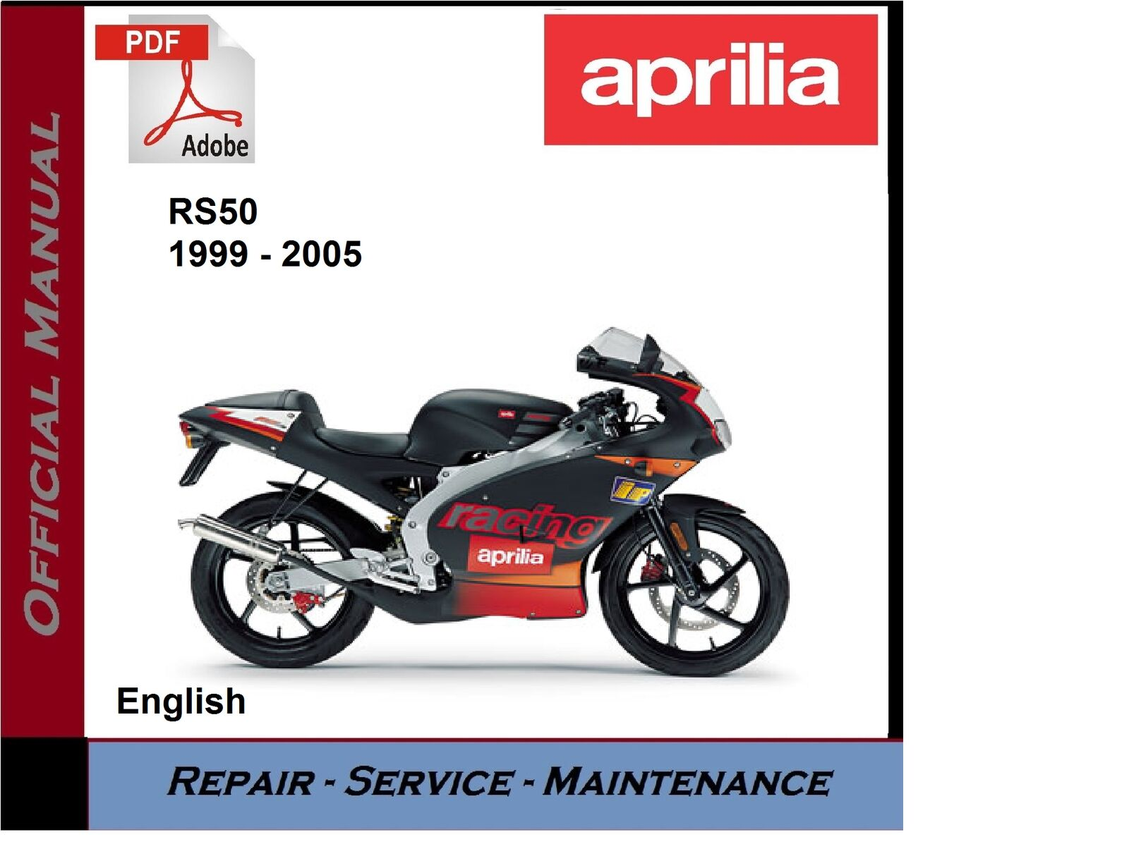 Aprilia RS50 1999 - 2005 RS 50 Workshop Service Repair Manual 1 of 1FREE  Shipping See More