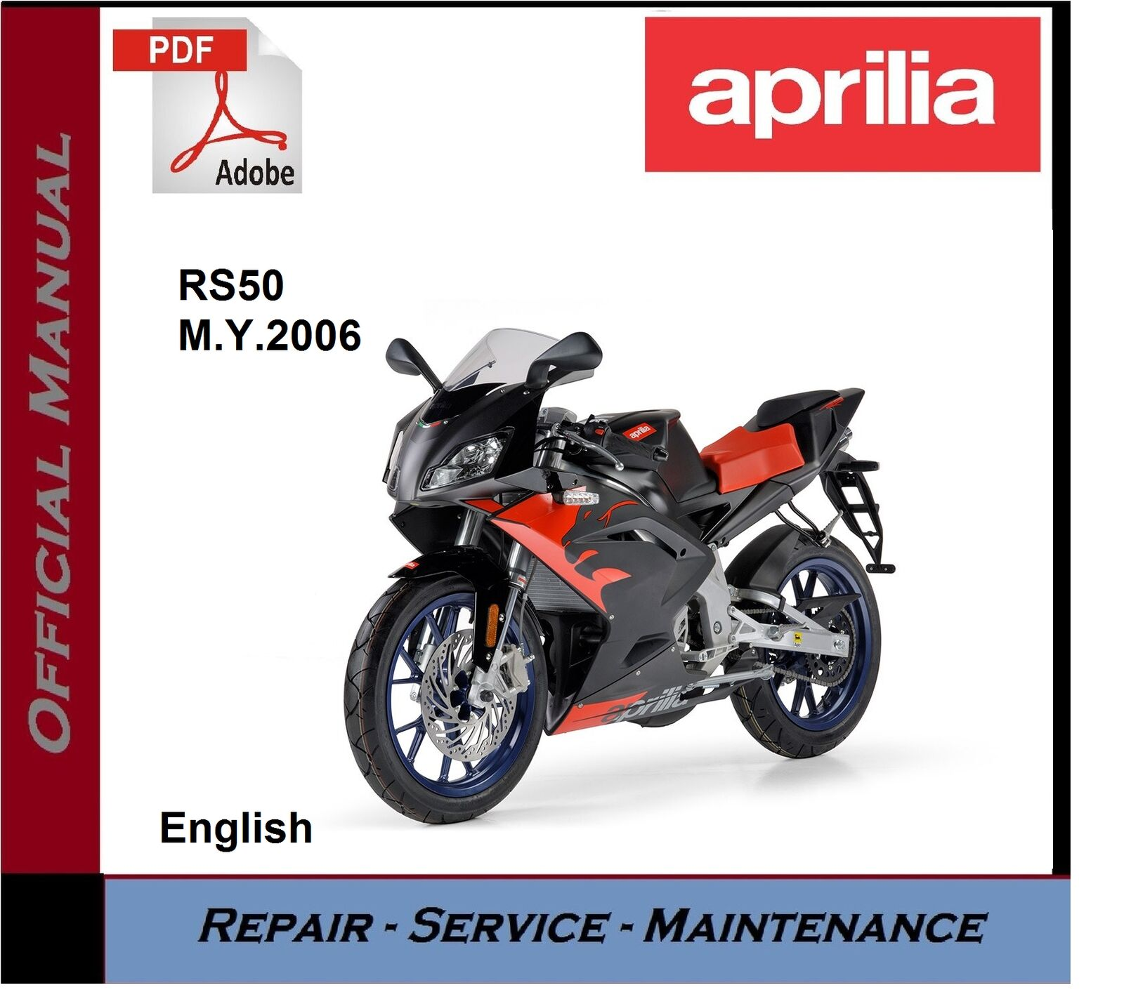 Aprilia RS50 2006 onwards Workshop Service Repair Manual 1 of 1FREE  Shipping ...