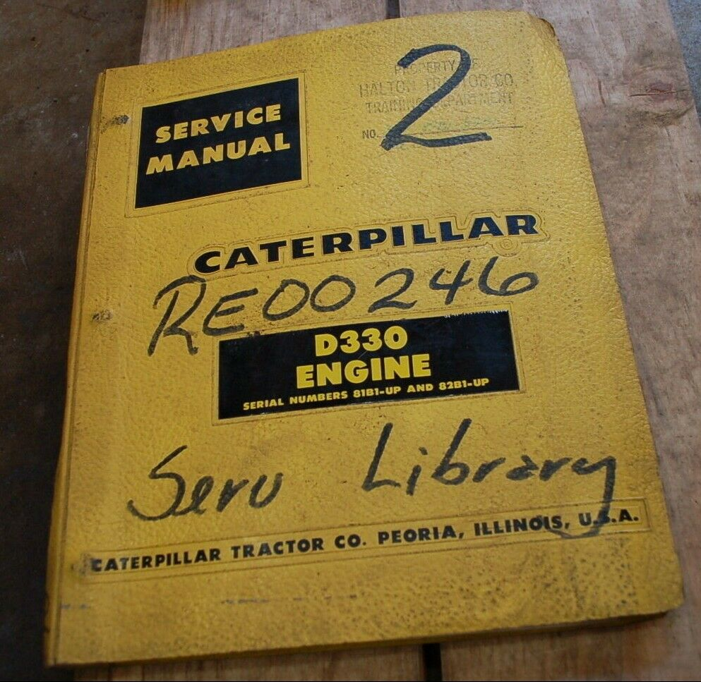 1 of 5Only 2 available CAT Caterpillar D330 Diesel Engine Service Manual  repair shop overhaul book 81b