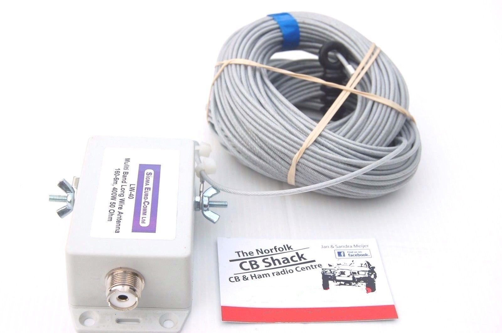 LW40 HF 160 - 6m Multiband Long Wire Top band Antenna / Aerial ...