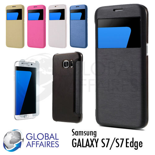 Coque housse etui s7 s7edge flip cover samsung galaxy s7 for Housse galaxy s7