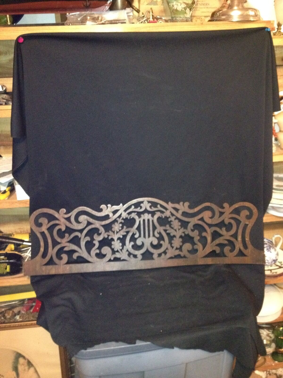 "1940's 33"" Carved Wood Pediment"