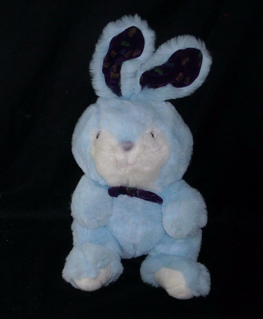 17 Vintage Cuddle Wit Baby Blue Bunny Rabbit Jelly Bean Ear Stuffed
