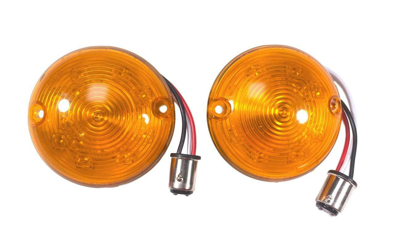 57 Chevy Amber Led Parking Light Lenses Pair New 1957 Chevrolet Dome Bulb 1 Of See More