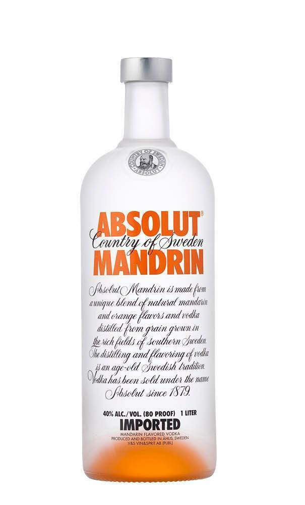Absolut Mandrin Vodka 1 Litre