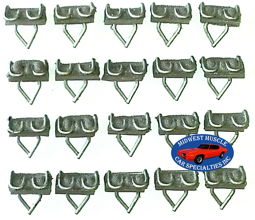 Chrysler Dodge Plymouth 7 8 Body Side Vinyl Moulding Molding Trim Wiring Harness Strap Clips 20pcs N 1 Of 12free Shipping