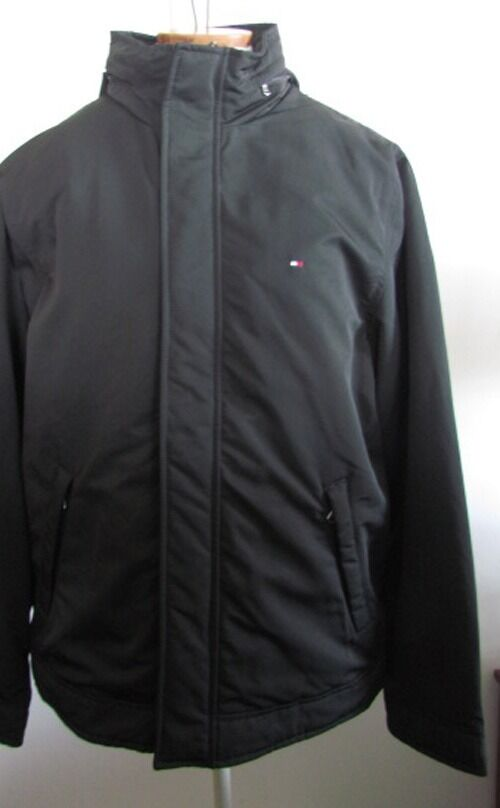 Nwt Tommy Hilfiger Men S Winter Jacket Anorak With Hood Black Size S
