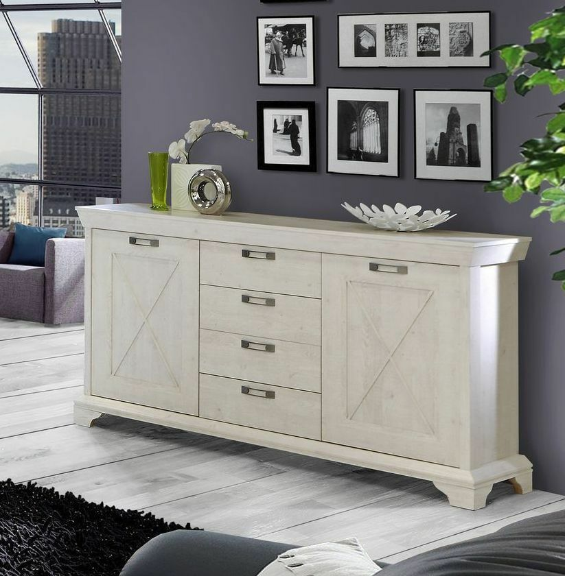 forte m bel highboard sideboard kommode kashmir in pinie weiss eur 319 00 picclick de. Black Bedroom Furniture Sets. Home Design Ideas