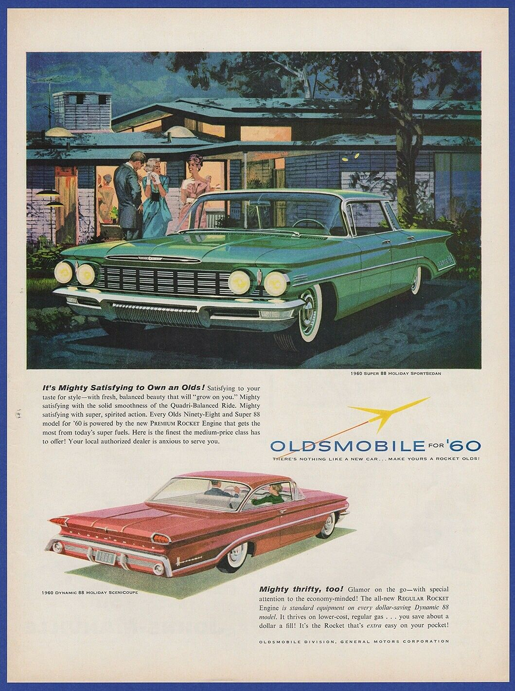 Vintage 1959 Oldsmobile For 1960 Super 88 Holiday Automobile Car 1941 Station Wagon 1 Of 1only Available